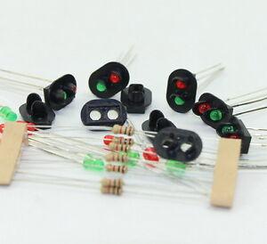 Signale LED rot//gr/ün DIY Ampeln Spur H0 00 Signal Modellbau NEU TT Evemodel 10 STK