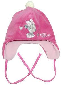 Neu-Disney-Minnie-Mouse-Babymuetze-Muetze-Fleecemuetze-Ohrenschuetzer-42-44-46