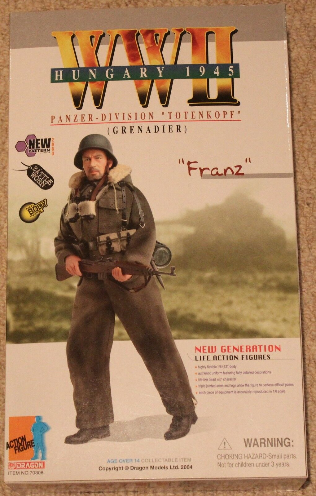 Dragon Action Figure 1 6 ww11 allemand Franz 70308 12  Coffret a Cyber Hot toy