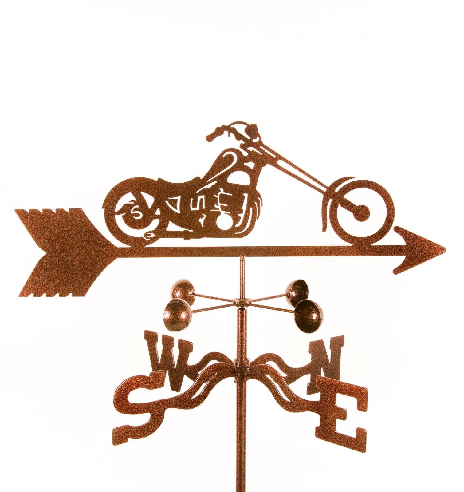 Chopper Motorcycle Weathervane, Harley? Cycle, Bike Vane w/ Choice of Mount