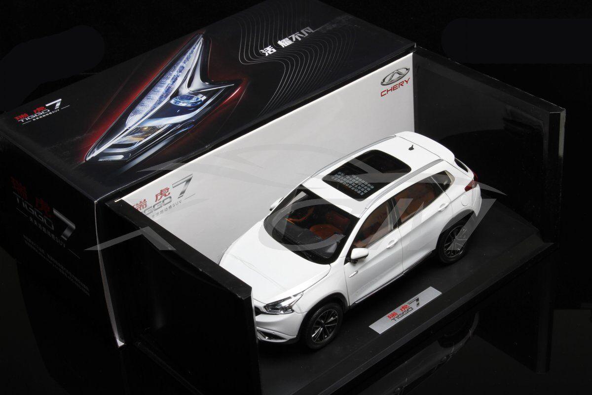 Diecast Car Model Chery Tiggo 7 Tiigo7 1 18 (White) + GIFT