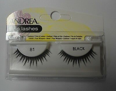 Andrea's Strip Lashes Fashion Eye Lash Style 81 Black - (Pack of 6)