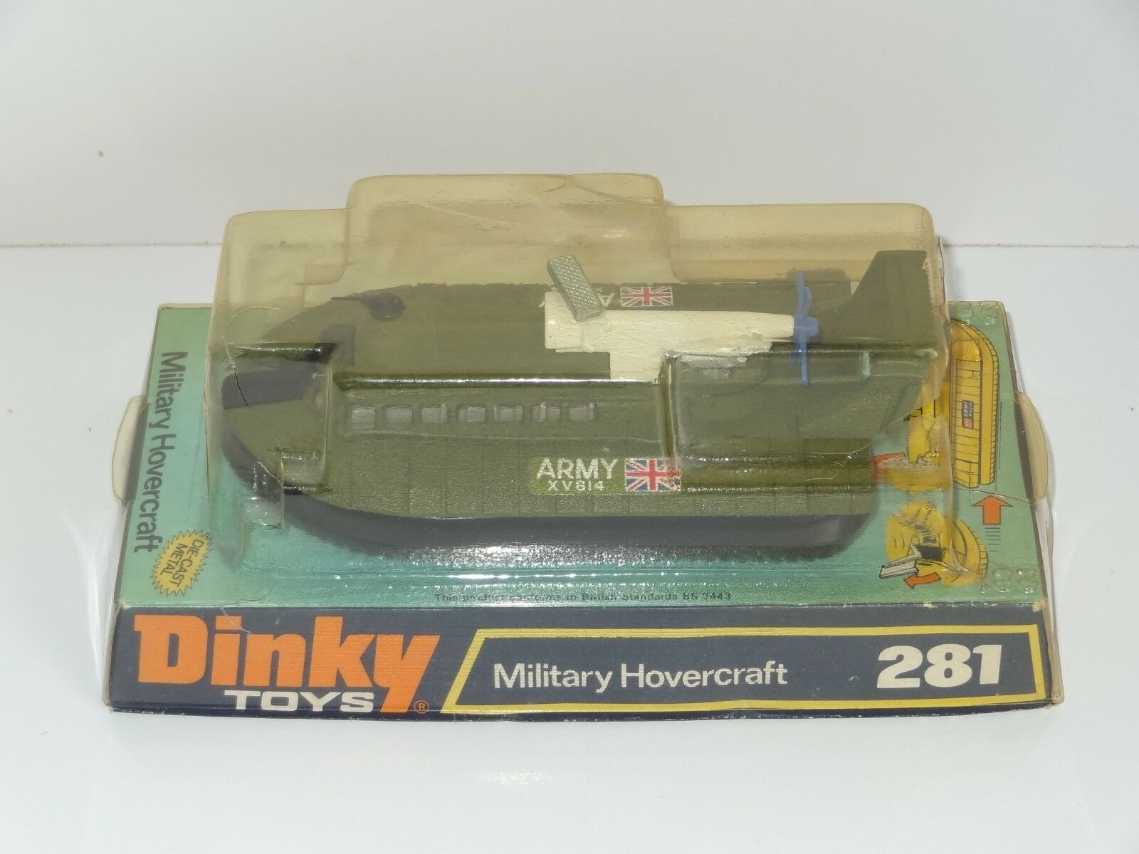 (KB) Dinky MILITARY ARMY HOVERCRAFT - 281