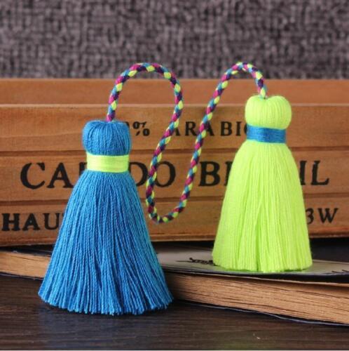 1 Paar Baumwolle Doppel Quaste Anhänger Dekoration Schmuck machen Zubehör