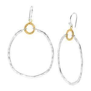 Silpada-039-Dynamic-Duo-039-Double-Circle-Drop-Earrings-in-Sterling-Silver-amp-Brass