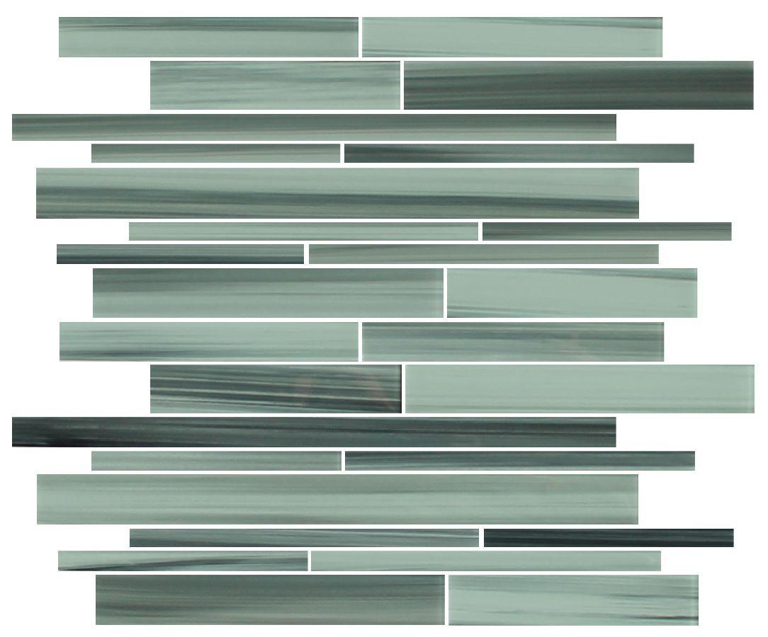Surfz Up Hand Painted Linear Glass Mosaic Tiles Backsplash Bathroom Tile For Sale Online