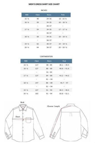 Matching Tie Handkerchief Set Unique Colors Size 15~20 S21 Men/'s Dress Shirt