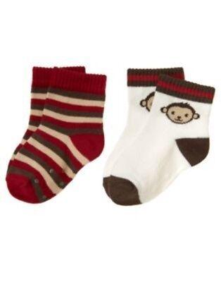 NWT Gymboree 3-6 Months MISCHIEVOUS MONKEY Monkey Face Single Pack Tube Socks