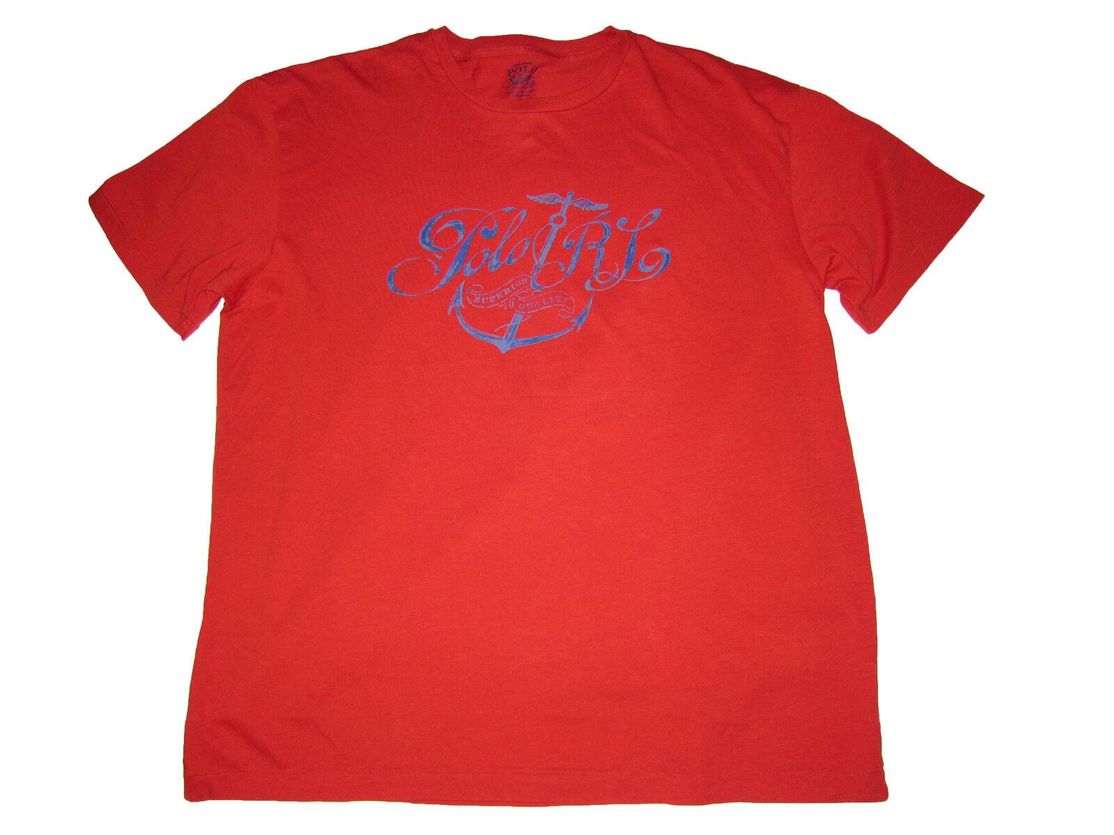 Polo Ralph Lauren Red L Beach Anchor Yacht T Shirt Large