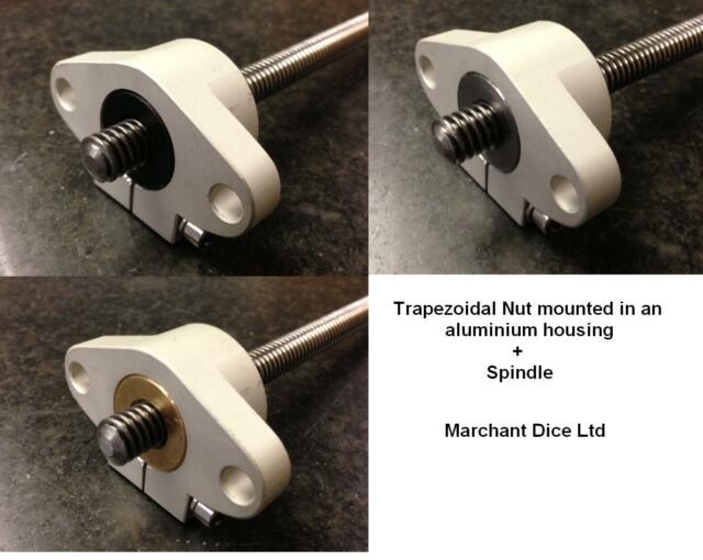 x1pc CNC Flanged Trapezoidal Nut & Spindle 12x3 Right Hand 200 to 400mm Lengths