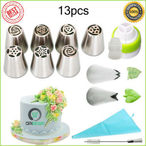Details about CakeLove - Flower-Shaped Frosting Nozzles Cake Piping Icing  Decorating Tool