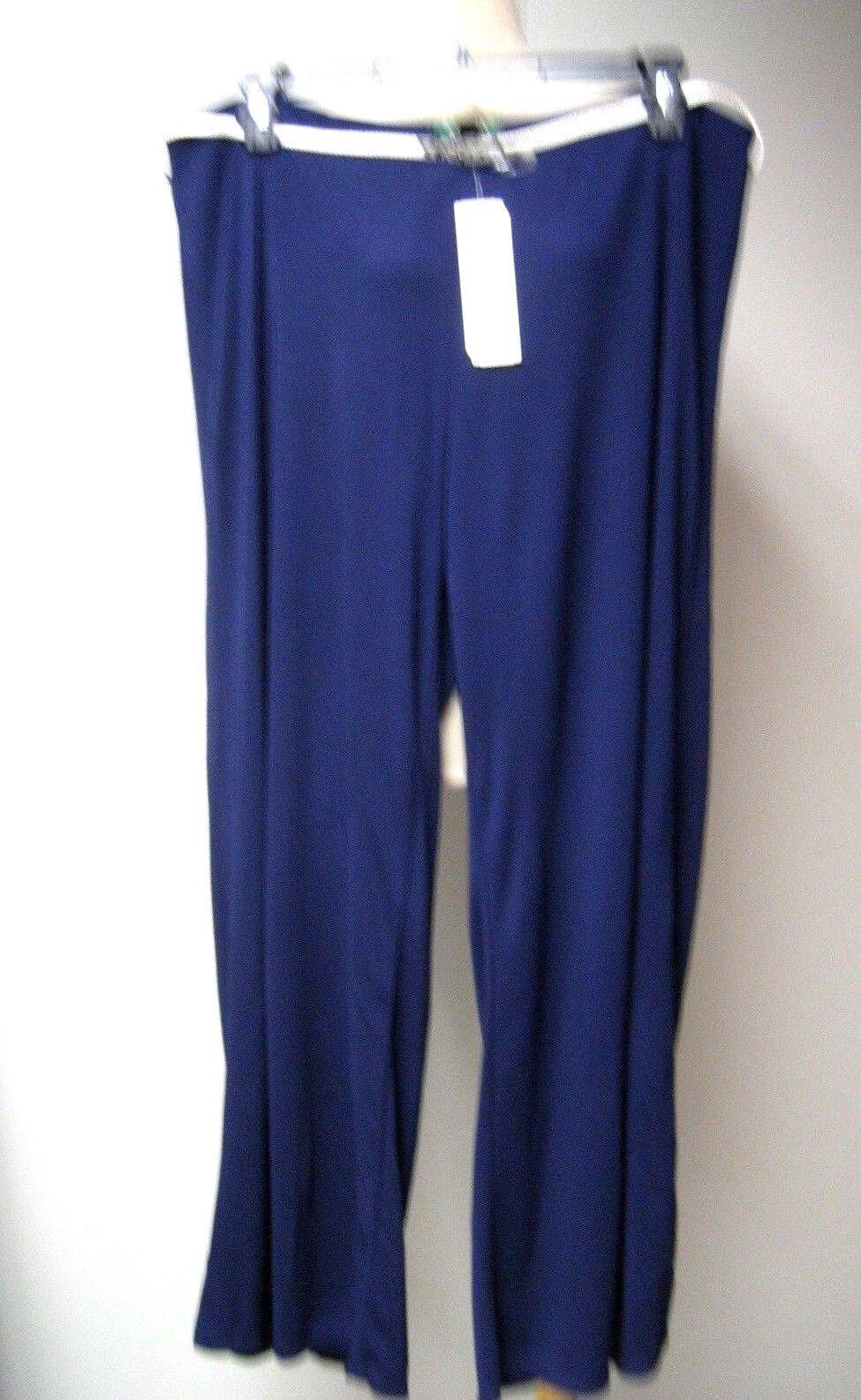 2X LAUREN RALPH LAUREN Elastic Waist Wide leg pants with belt in Navy, size 2X