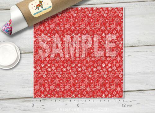 155 Christmas Decorative Snowflakes Pattern HTV Printed HTV Adhesive Vinyl