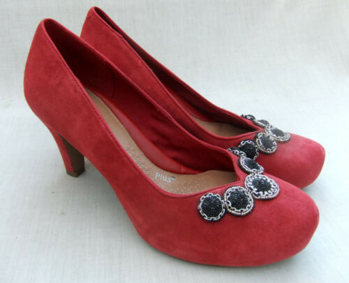 Daim Chorus Femmes 38 Nouveau 5 Note Chaussures Rouge Taille Clarks En I76yvfgYb