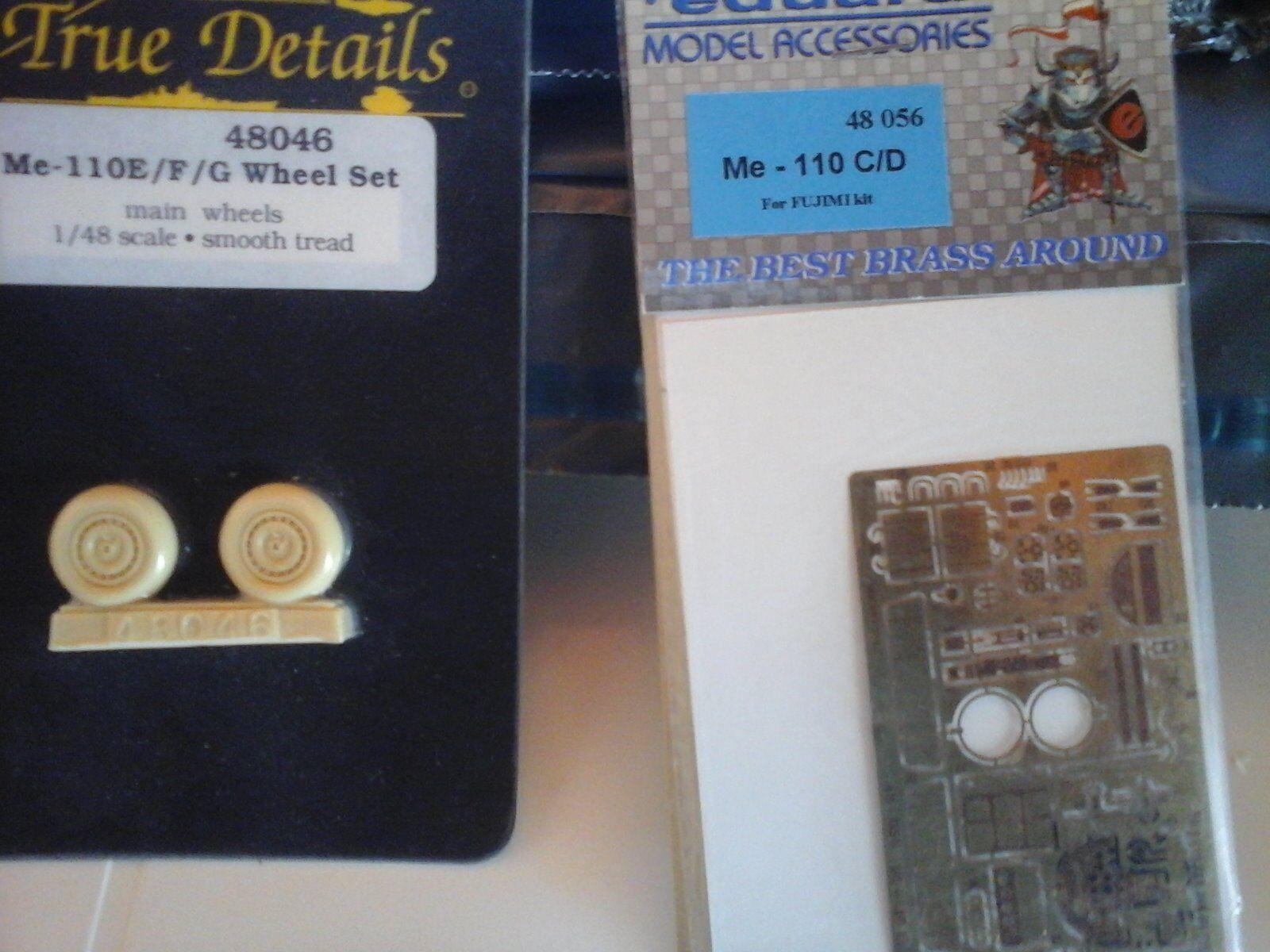 ME110 E F RESIN WHEEL SET+PHOTOETCHED PARTS FOR ME110 C C C D 1 48 SCALE MODEL 123b1a