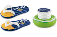 Corona Beer Inflatable Flip Flop Pool Floats With Floating Cooler