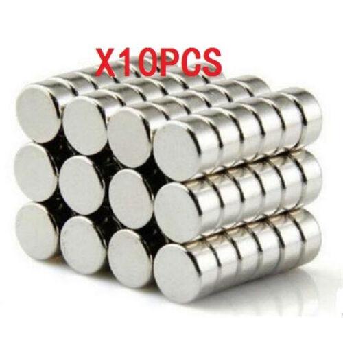"""10pcs Neodymium Disc 1//4/"""" X 1//8/"""" Super Strong Rare Earth Magnet N35 D6x3mm ☆"""