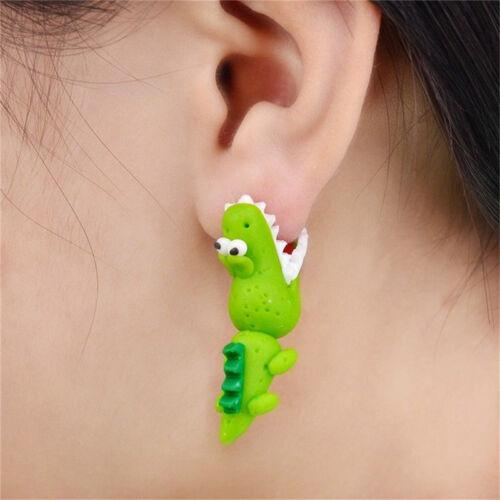 Femmes Cartoon 3D animal polymère argile oreille Stud boucles d/'oreilles   BB