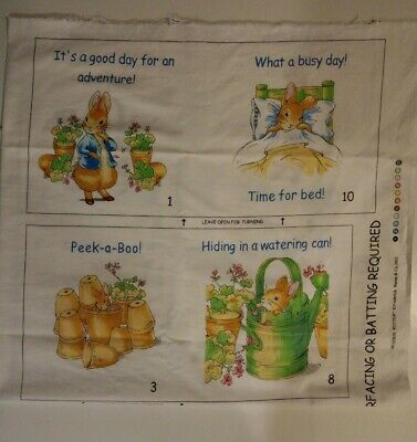 100/% cotton Storybook collection Peek a Boo Peter with hat fabric
