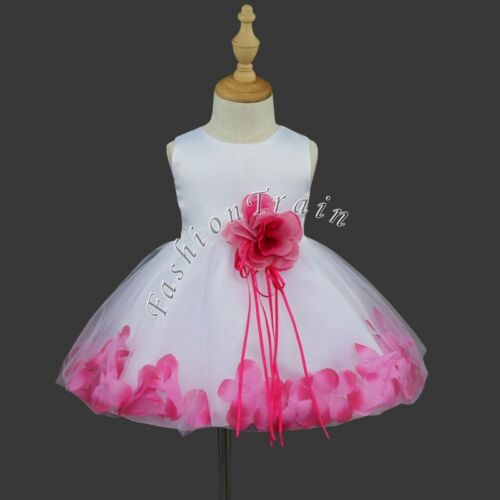 Flower Girls Princess Bow Dress Kids Pageant Party Wedding Sequins Birthday Gown