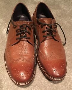 TED-BAKER-Brown-Leather-Brogues-Size-8-EU42