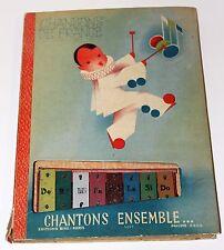 French Childrens book CHANSONS DE FRANCE Chantons Ensemble w/Musical Instrument