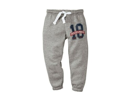 Kids Boys Girls Joggers Sports Jogging Sweat Pants PE Shool Size 12-24 2 3 4