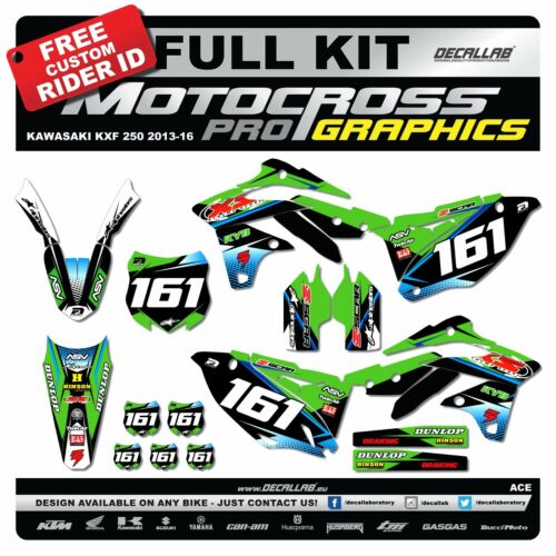 KAWASAKI KXF 250 2013 2014 2015 2016 MX Graphics Decals Stickers Decallab