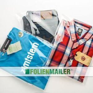 100-Polybeutel-fuer-Textilien-verschiedene-Groessen-Polybags-Klappenbeutel