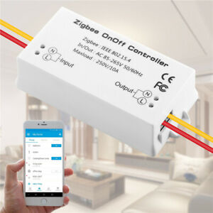 Zigbee On//Off Controller Smart Remote Control Switch Home Module 10A AC 85-265V