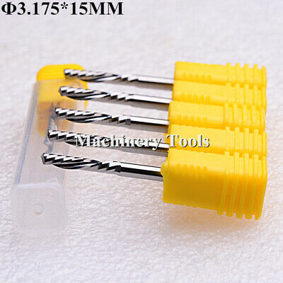 "Aluminium Cutting Left Hand Down Cutter Single Flute CNC Router Bits 1//8/""  15mm"