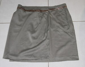 Womens-size-18-khaki-wrap-around-skirt-made-by-TABLE-EIGHT-wool-blend