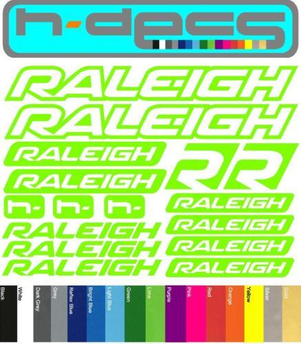 Raleigh T1 Die-cut decal sheet. (stickers, cycling, mtb, bmx, road, bike)