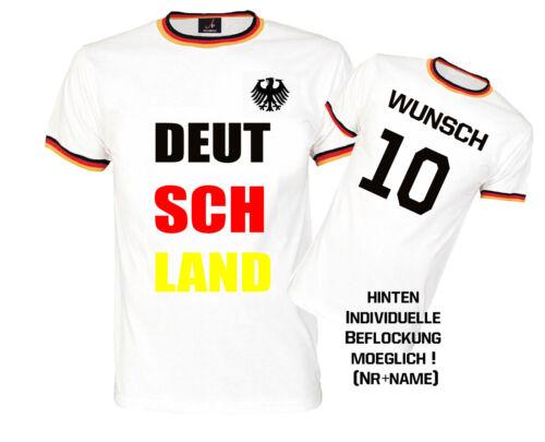 Fussballtrikot FANSHIRT T-Shirt Allemagne WM EM Coupe du monde germany avec nom