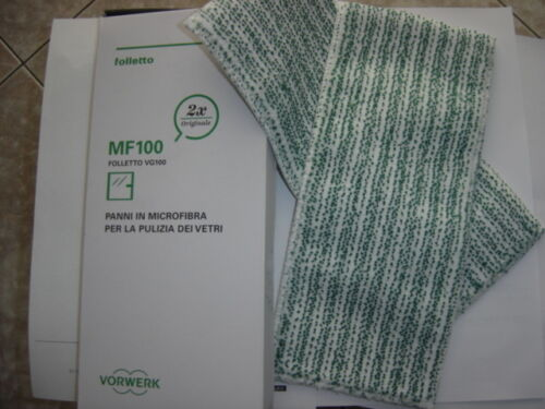 Vorwerk Folletto kit panni microfibra 2pz per lavavetri VG100 ricambio originale