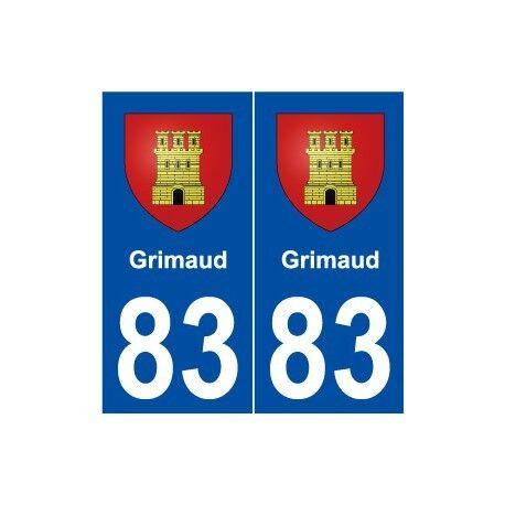 83 Grimaud blason autocollant plaque stickers ville droits