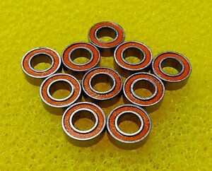 5x10x4 mm 10PCS ABEC7 Orange 440c CERAMIC Stainless Steel Bearing SMR105-2RS
