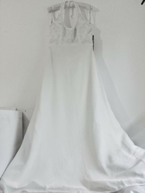 BERKETEX BRIDE WEDDING DRESS Size 12 Julian & Adam Halter neck Brand New BNWT