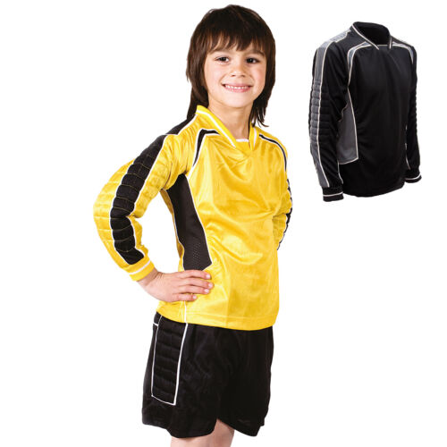Boys Kids Unisex Goalkeeper Football Kits Padded Top Shorts Sportswear Training