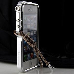 more photos 0d71c 5e333 Details about Cool Metal Case For iPhone 5 5s Se Premium Aluminum Bumper  Trigger Cover +Strap