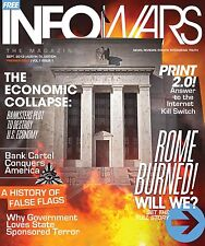 Alex Jones Infowars Magazine Collectors First 12 Issues #1 - 12 - RARE FIND!