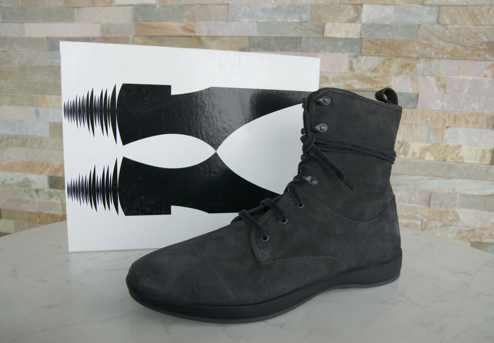 MORESCHI Gr Vintage 41,5 7,5 Stiefeletten Booties Vintage Gr Schuhe dunkelgrau NEU c2ca68