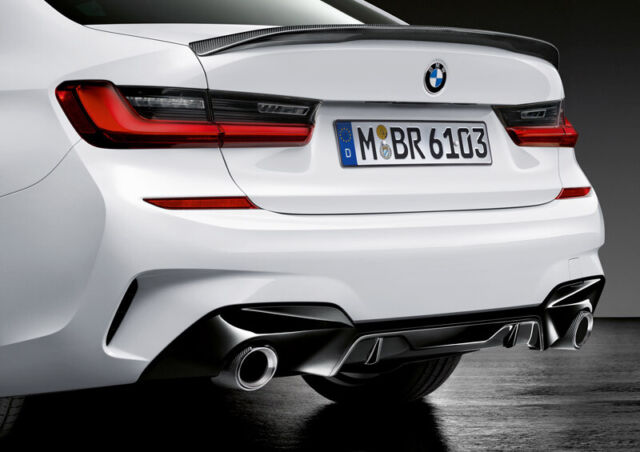 BMW G20 M Performance Gloss Black Rear Diffuser (RRP £252) 51192455821