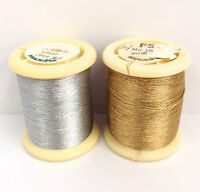 Madeira Metallic Embroidery Thread Gold Silver No. 15 1000 Yd Select Color