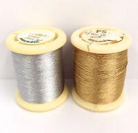Madeira Metallic Embroidery Thread Gold Silver No. 15 1000 Yd Select Color