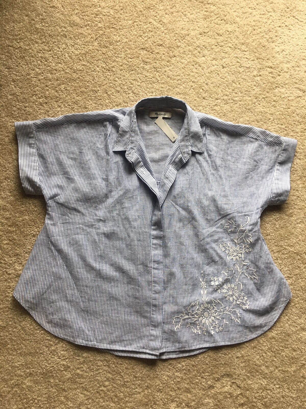 Authentic Madewell embroiderot hilltop shirt Größe X-Small, Brilliant Royal