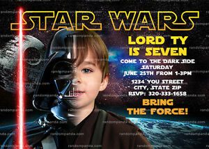 Personalize Darth Vader Invitation Star Wars Party Star Wars