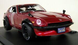 Maisto-1-18-Scale-1971-Datsun-240Z-Tokyo-Modified-Cherry-Red-Diecast-Model-Car