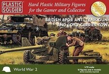 BRITISH 6PDR ANTI-TANK GUN AND LOYD CARRIER TOW - PLASTIC SOLDIER COMPANY 1/72