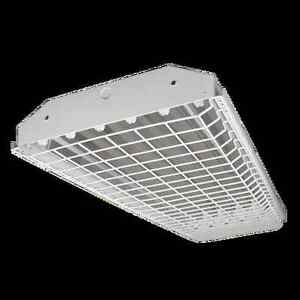6 Lamp T5HO High bay Fluorescent Light Fixture *WITH WIREGUARD* NEW ...